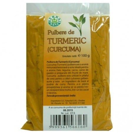 Turmeric (Curcuma) Pulbere 100gr HERBAVIT