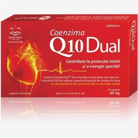 Barny`S Coenzima Q10 Dual 60Mg 30cps GOOD DAYS THERAPY