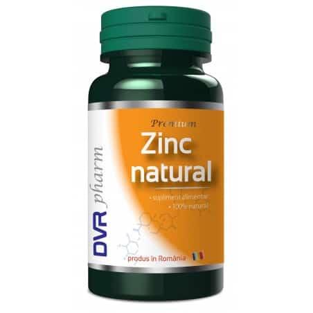 Zinc natural 60 cps Dvr Pharm
