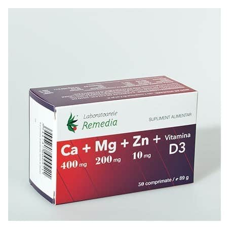 CA MG ZN D3 5bls x 10cpr LAB.REMEDIA
