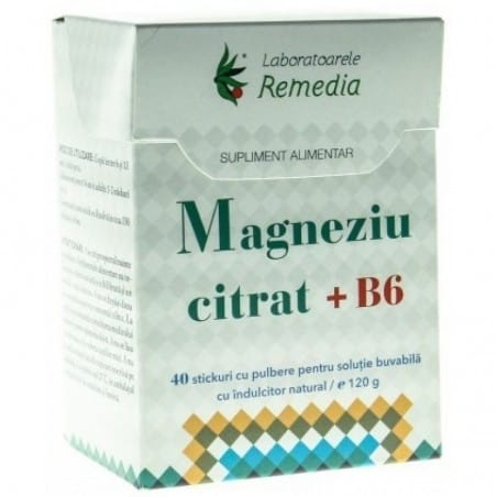 MAGNEZIU CITRAT 150mg+B6 x 40 stick | LAB. REMEDIA