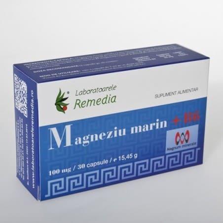 MAGNEZIU MARIN 100mg +B6 3bls x 10cps | LAB REMEDIA