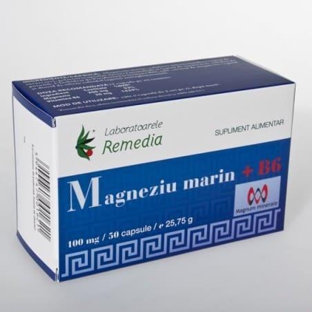 MAGNEZIU MARIN 100mg +B6 5bls x 10cps | LAB REMEDIA