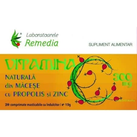 VITAMINA C 300mg MACESE + PROPOLIS + ZN 2bls.x10cpr.| LAB.REMEDIA