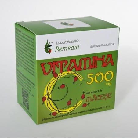 VITAMINA C 500mg 20doze | LAB.REMEDIA