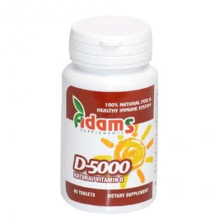 Vitamina D 5000 UI – 60 tablete Adams Vision