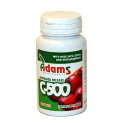Vitamina C-500 cu macese 30tab. Adams Vision