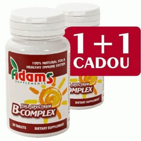 B-Complex 30cps. 1+1 gratis Adams Vision