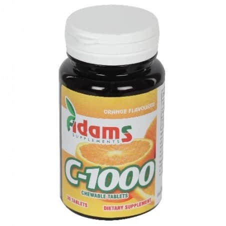 C-1000 30 tab. masticabile (aroma portocale)  Adams Vision