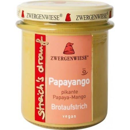 Crema Tartinabila Vegetala Papayango cu Papaya Picanta Si Mango Fara Gluten 160g Zwergenwiese