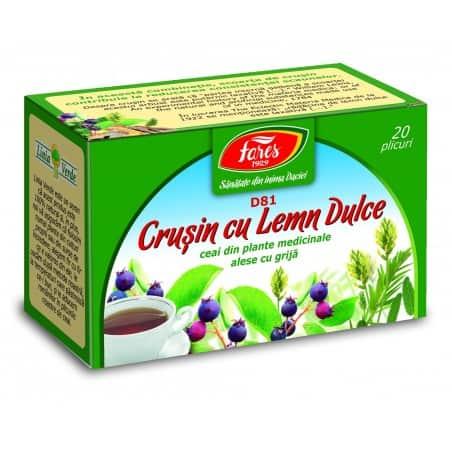 Ceai Crusin Cu Lemn Dulce, 20 pliculete FARES