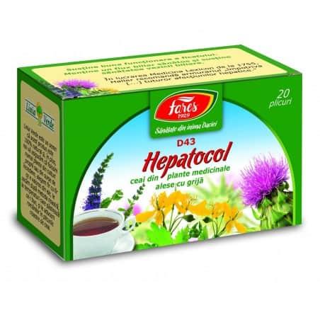 Ceai Hepatocol, 20 pliculete FARES