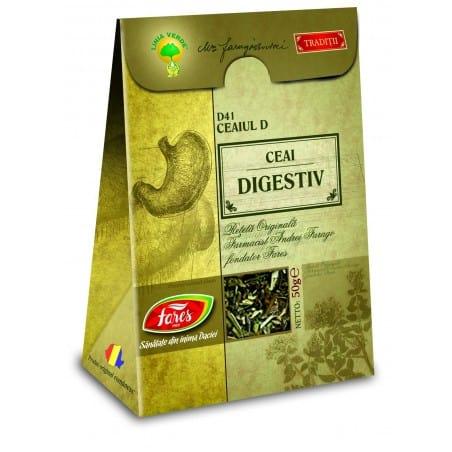 Ceaiul D—Ceai Digestiv, punga a 50 gr FARES