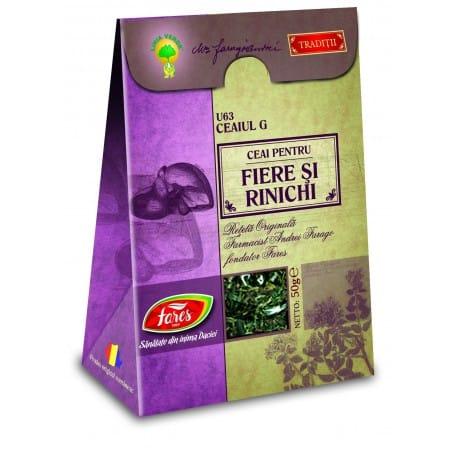 Ceaiul G—Ceai Pentru Fiere Si Rinichi, punga a 50 gr FARES