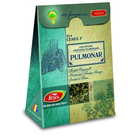 Ceaiul P—Ceai Pulmonar, punga a 50 gr FARES