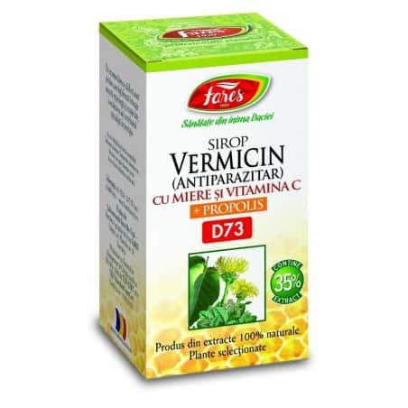 Vermicin (Antiparazitar) Cu Miere Si Propolis, 100 ml FARES