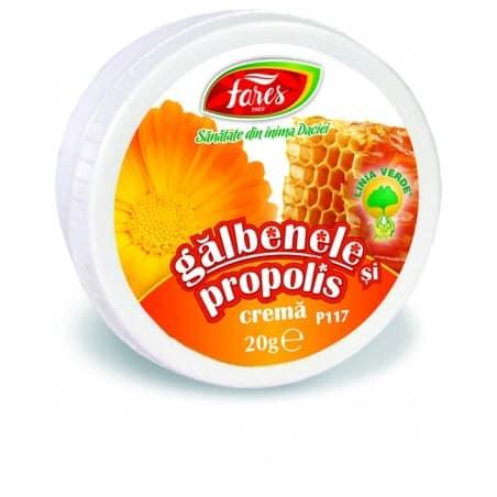 Galbenele Si Propolis, crema 20 gr FARES