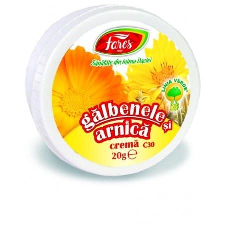 Galbenele Si Arnica, crema 20 gr FARES