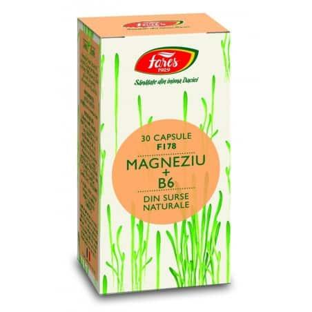Magneziu+B6, capsule 30 buc FARES