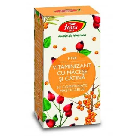 Vitaminizant Cu Macese Si Catina, comprimate 63 buc FARES