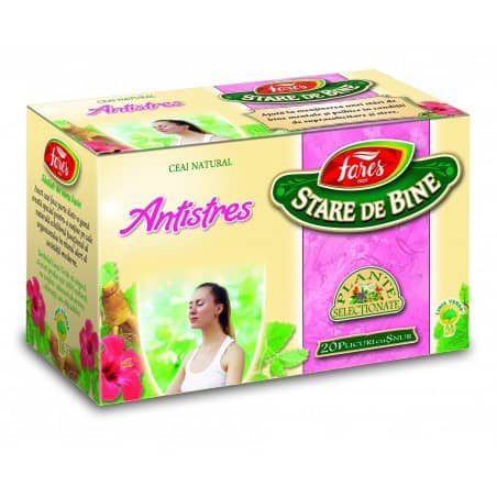 Ceai Antistres, 20 pliculete cu snur FARES