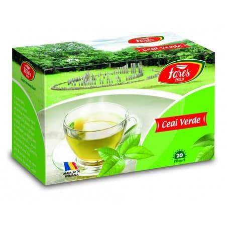 Ceai Verde, 20 pliculete FARES