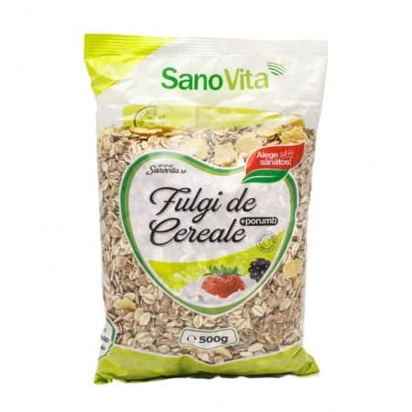 Fulgi de cereale și porumb 500g Sanovita