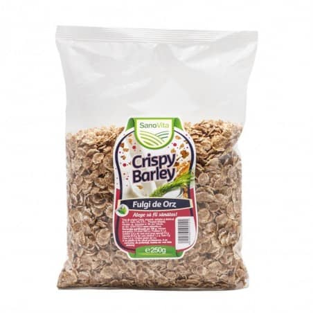 Crispy - Fulgi de orz 250g Sanovita