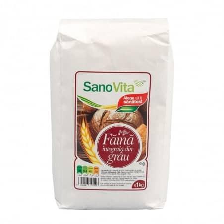 Făină integrală de grâu 1kg Sanovita