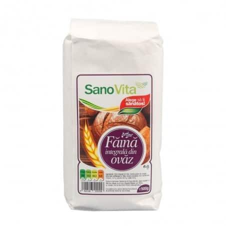 Făină integrala de ovăz 500g Sanovita