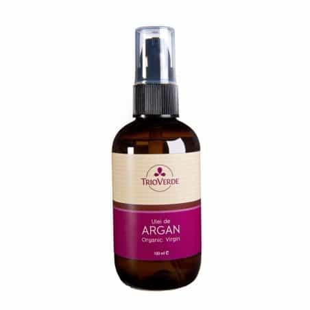 Ulei de Argan Virgin Organic presat la rece 100ml - Spray certificat ECOCERT Trioverde
