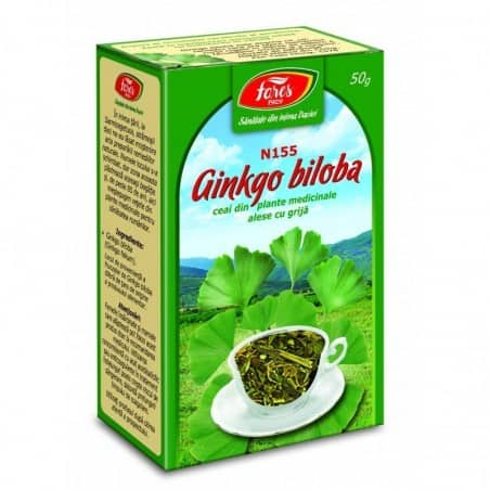 Ceai Ginkgo Biloba – Frunze, punga a 50 gr FARES