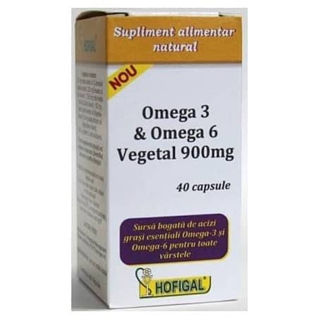 Omega 3&Omega 6 Vegetal 900Mg 40cps HOFIGAL