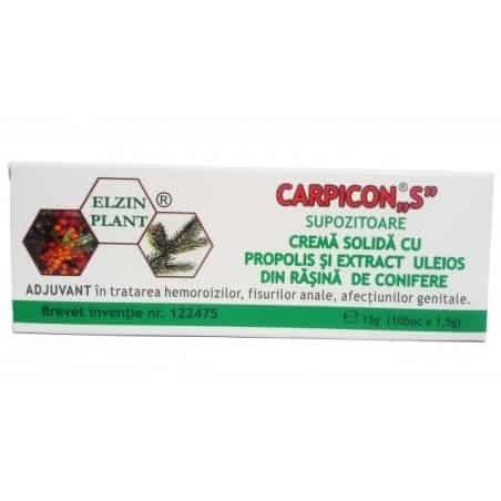 Carpicon `S` Supozitor 1,5gr*10 (Cut) ELZIN PLANT