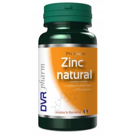 Zinc natural 60 cps Dvr Pharm
