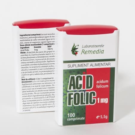 ACID FOLIC 1mg. x 100 cpr | LAB.REMEDIA