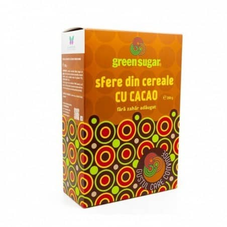 SFERE CACAO CU GREEN SUGAR 200g  I SWEETERIA LAB.REMEDIA