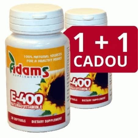 Vitamina E Naturala 400 UI 30 cps. 1+1 gratis  Adams Vision