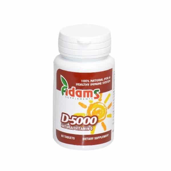 Vitamina D 5000 UI – 60 tablete Adams Vision