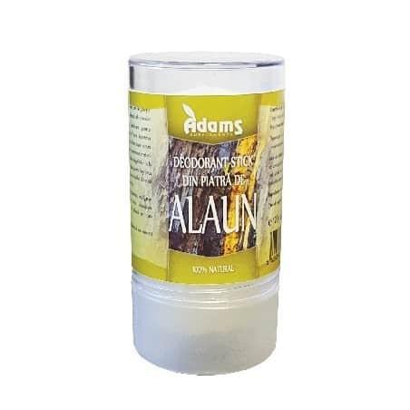 Deodorant stick din piatra de Alaun 120gr. Adams Vision