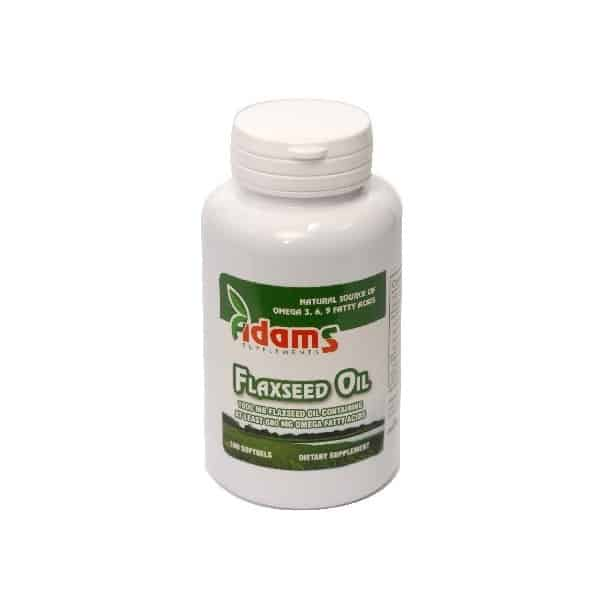 Omega 3-6-9 (Flaxseed Oil) - 1000mg 100 cps.g. Adams Vision