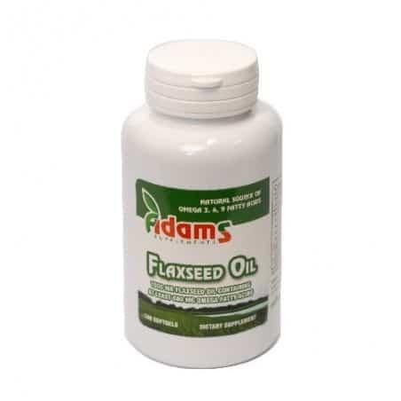Omega 3-6-9 (Flaxseed Oil) - 1000mg 100 cps.g. Adams Vision