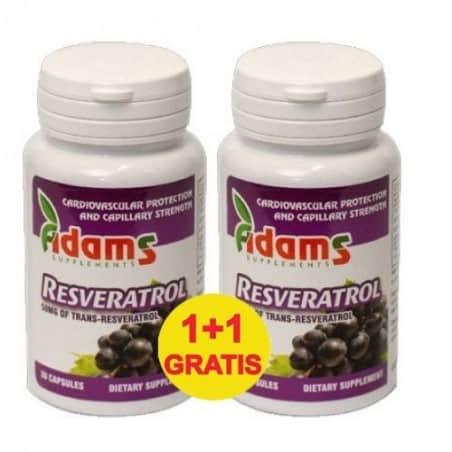 Resveratrol 50mg 30cps. 1+1 gratis Adams Vision