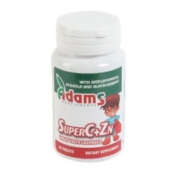SuperC+Zn 30 tab.masticabile (300mg vit.C + 5mg Zn) Adams Vision