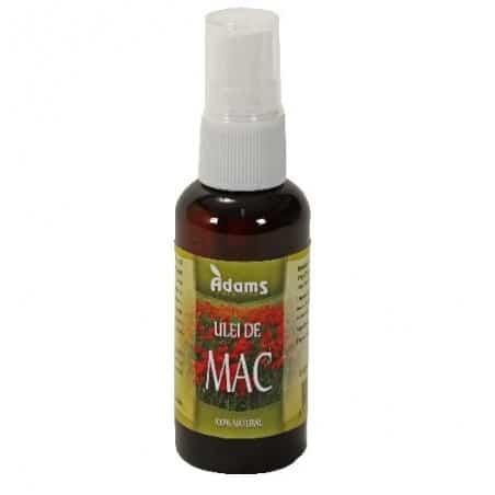 Ulei de Mac 50ml (presat la rece, ulterior rafinat) Adams Vision