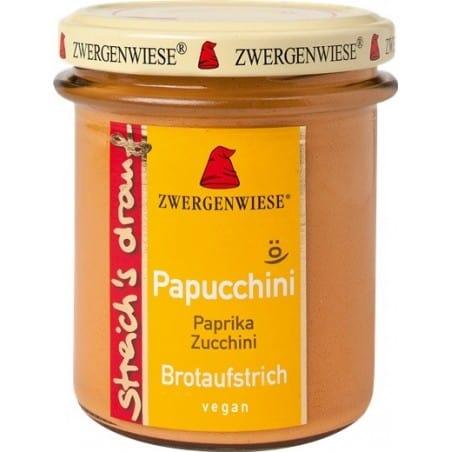 Crema Tartinabila Vegetala Papucchini cu Ardei Si Zucchini Fara Gluten 160g Zwergenwiese