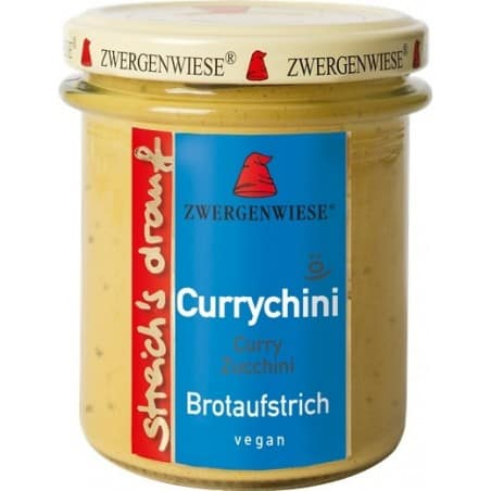 Crema Tartinabila Vegetala currychini cu curry Si Zucchini Fara Gluten 160g Zwergenwiese