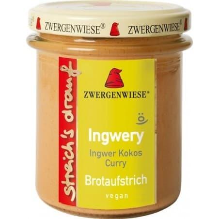 Crema Tartinabila Vegetala Ingwery cu Ghimbir Cocos Si curry Fara Gluten 160g Zwergenwiese