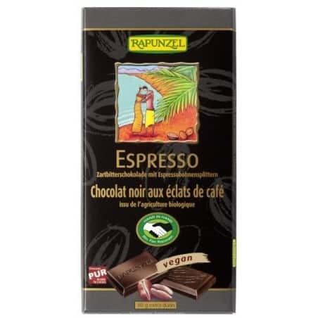 Ciocolata Amaruie cu Espresso 55 Cacao Vegana 80g Rapunzel