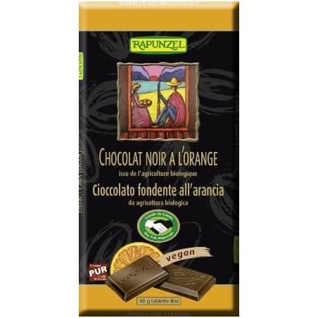 Ciocolata Amaruie cu Portocale 55 Cacao Vegana 80g Rapunzel